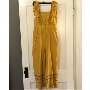 Madewell mustard jumpsuit